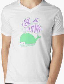 Save the Humans Mens V-Neck T-Shirt