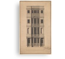 Robert Adam  British Coffee House - Pen and black ink, with gray wash, on paper. Canvas Print
