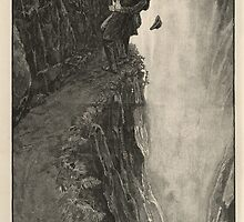 Sherlock Holmes and Professor Moriarty at the Reichenbach Falls by Adam Asar