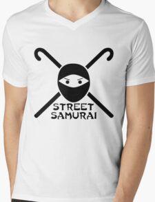 STREET SAMURAI Mens V-Neck T-Shirt