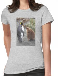 King Penguin and chick ~ Meal Time Womens Fitted T-Shirt