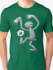 Cool Sloth Playing with a Soccer Ball T-Shirt