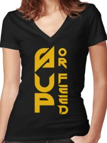 Sup Or Feed Women's Fitted V-Neck T-Shirt