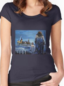 Harry and Hagrid Women's Fitted Scoop T-Shirt