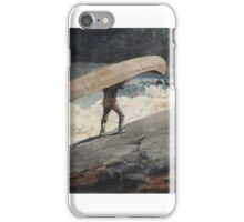 Winslow Homer, THE PORTAGE iPhone Case/Skin