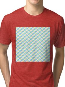 Knitted Pattern Tri-blend T-Shirt