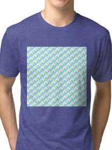 Knitted Pattern Tri-blend T-Shirt