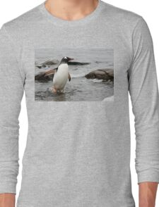 """Gentoo Penguin ~ """"Gawd it's Cold"""" Long Sleeve T-Shirt"""