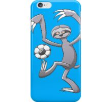 Cool Sloth Playing with a Soccer Ball iPhone Case/Skin