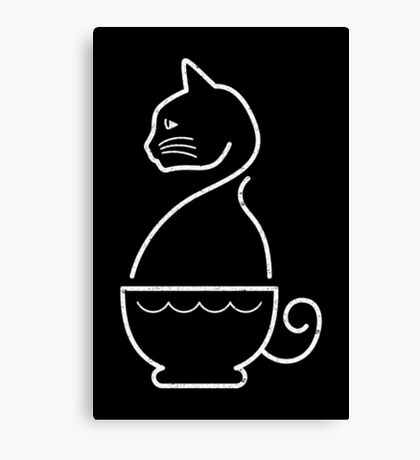 A Cat of Coffee Canvas Print
