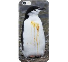"Chinstrap Penguin ~ ""Who Flung Dung?"" iPhone Case/Skin"