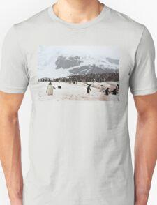 "Gentoo Penguins ~ ""Penguinville, Curville Island, Antarctica"" Unisex T-Shirt"