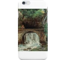 Gustave Courbet - The Great Bridge  iPhone Case/Skin