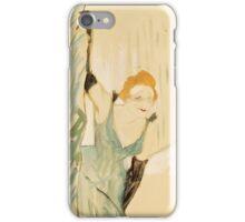 Henri de Toulouse-Lautrec, (), YVETTE GUILBERT iPhone Case/Skin