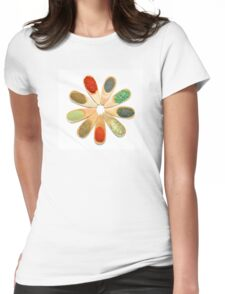 wooden spice spoons Womens Fitted T-Shirt