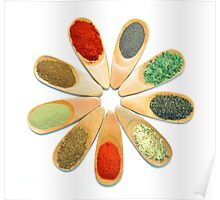 wooden spice spoons Poster