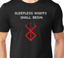 Berserk - Sleepless nights (Red) Unisex T-Shirt