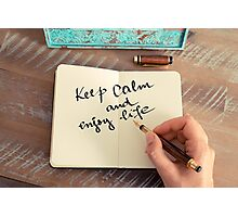 Motivational concept with handwritten text KEEP CALM AND ENJOY LIFE Photographic Print