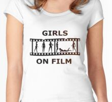 Girls On Film Women's Fitted Scoop T-Shirt