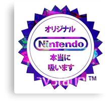 Vaporwave Nintendo Canvas Print