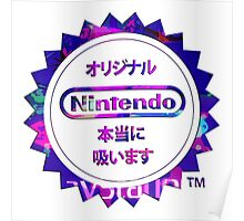 Vaporwave Nintendo Poster