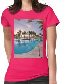Swimming pool Womens Fitted T-Shirt