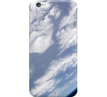 A blue and white part of Earth and the blackness of space viewed from the Earth-orbiting space shuttle Atlantis. iPhone Case/Skin