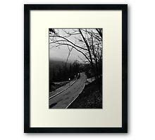 Follow the road Framed Print