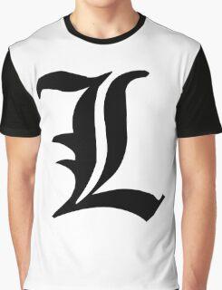 Death Note L symbol Graphic T-Shirt