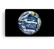 View of Full Earth centered over the Pacific Ocean. Canvas Print