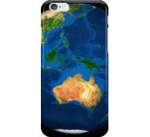 View of the full Earth showing Indonesia, Oceania, and the continent of Australia. iPhone Case/Skin