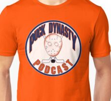 Puck Dynasty Podcast - Orange and Blue Unisex T-Shirt