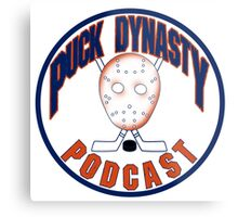 Puck Dynasty Podcast - Orange and Blue Metal Print