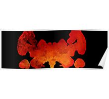 Red Ink Blot Poster