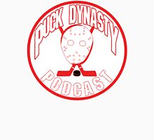 Puck Dynasty Podcast - Red & White Unisex T-Shirt