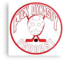 Puck Dynasty Podcast - Red & White Metal Print