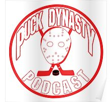 Puck Dynasty Podcast - Red & White Poster