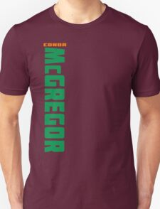 Conor McGregor Green and Orange - Front T-Shirt