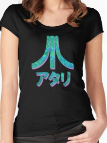 Vaporwave Atari Women's Fitted Scoop T-Shirt