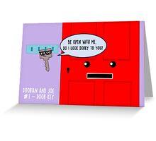 Doorian and Joe #1 - Door key Greeting Card