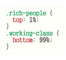 rich people css code Art Print