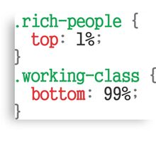 rich people css code Canvas Print