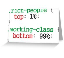 rich people css code Greeting Card