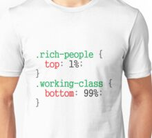 rich people css code Unisex T-Shirt