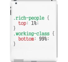 rich people css code iPad Case/Skin