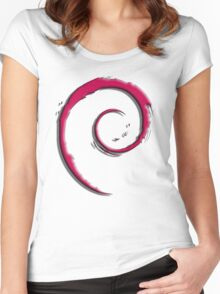 Debian Logo Women's Fitted Scoop T-Shirt