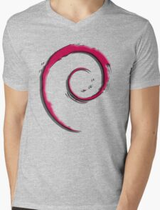 Debian Logo Mens V-Neck T-Shirt
