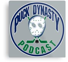 Puck Dynasty Podcast - Grey, Green, and Blue Metal Print