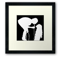 Robbers Silhouette (white) Framed Print
