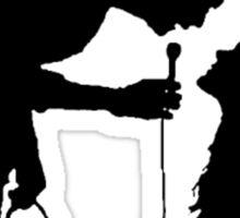 Robbers Silhouette (white) Sticker